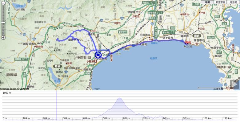 湘南&足柄山ロングライド115kmコース