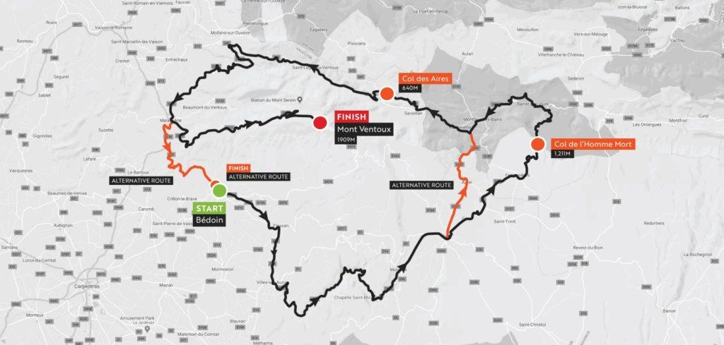 Haute Route Ventoux_stage2_map