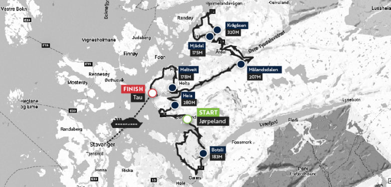 Maserati Haute Route norway 2018 Stgae1_map