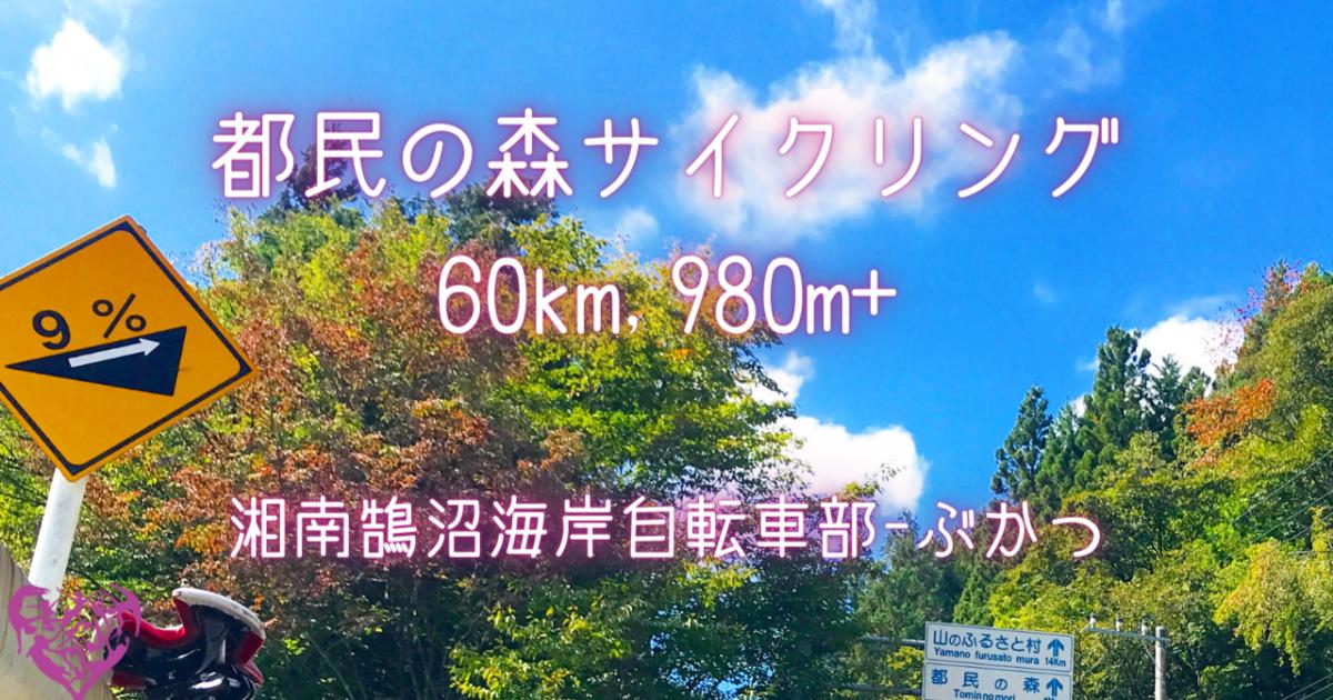 [湘南鵠沼海岸自転車部] 都民の森サイクリング60km, 980m+